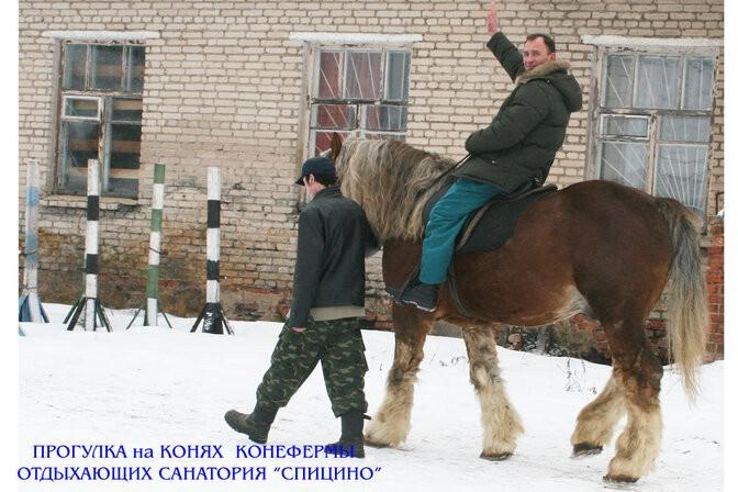 """Прогулка на лошадях в санатории """"Спицино"""" МВД РФ"""
