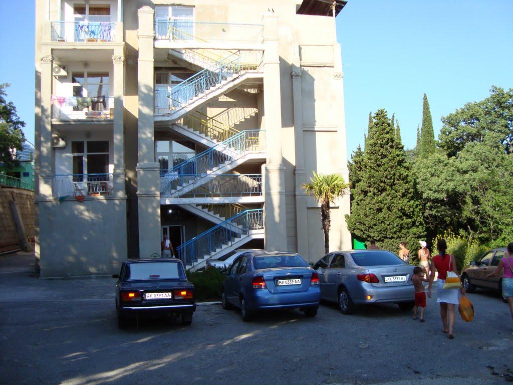 Парковка в санатории Ратник в Крыму