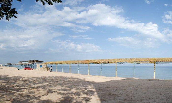 Пляж санатория Меркурий в Евпатории