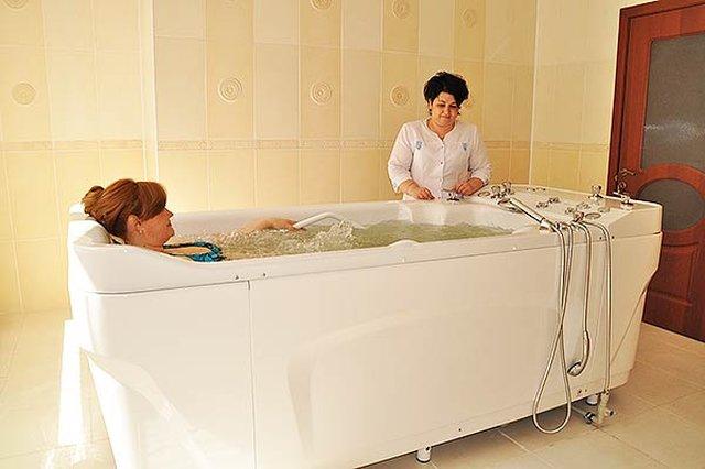 Минеральные нарзанные ванны в санатории МЧС России в Кисловодске