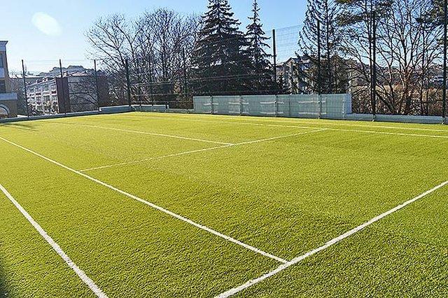 Футбольное поле на территории санатория МЧС России в Кисловодске