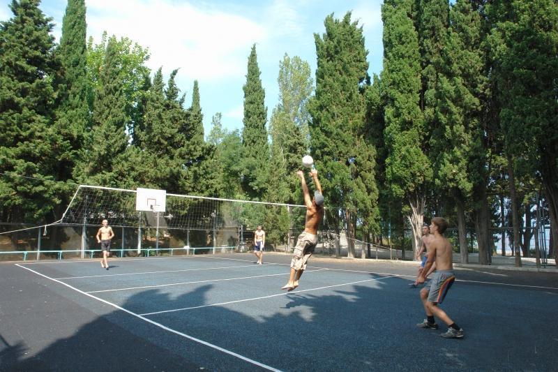 """Волейбольная площадка пансионата """"Семидворье"""""""